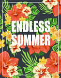 Summer poster Typography Vector Royalty Free Stock Images