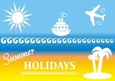 Summer poster Royalty Free Stock Image