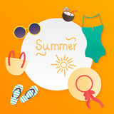 Summer poster. Vector Royalty Free Stock Photo