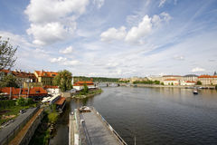 Summer Prague, panorama Stock Photography