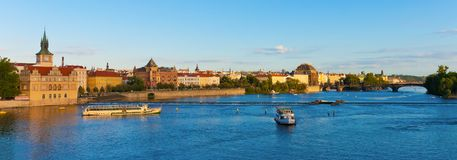 Summer Prague panorama Stock Images