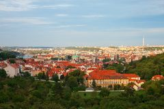 Summer Prague panorama Royalty Free Stock Image