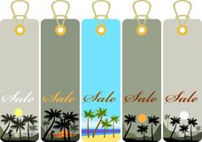 Summer price tags Royalty Free Stock Image
