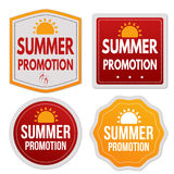 Summer promotion stickers set Stock Photography