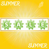 Summer promotional design element. Royalty Free Stock Photos