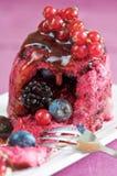 Summer pudding stock image