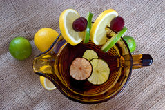 Summer punch drink Stock Images
