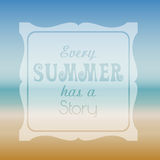 Summer quote background Royalty Free Stock Photo