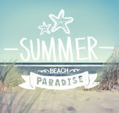Summer Quote on Beach Background Royalty Free Stock Images