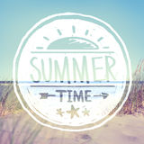 Summer Quote on Beach Background Royalty Free Stock Photos