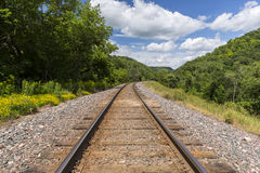 Summer Railroad Track Scenic Stock Images