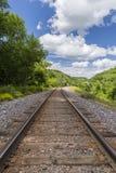 Summer Railroad Track Scenic Stock Photos