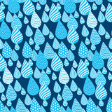 Summer rain concept drops seamless pattern. Stock Images