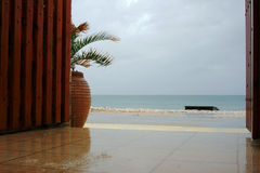 Summer rain  on Corfu Island Royalty Free Stock Images