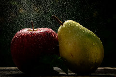 Summer rain and fruits Stock Image