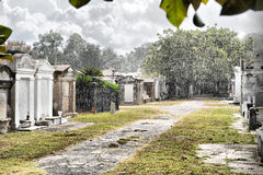 Summer Rain-New Orleans Cemetery Stock Photography