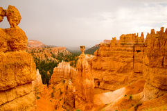 Summer rain storm in Bryce Canyon National Park. Storm clears over Bryce Canyon National Park, Utah USA Stock Photos
