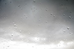 Summer rain through the window Royalty Free Stock Images