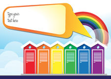 Summer Rainbow Card Stock Photo