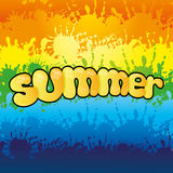 Summer rainbow of color. Royalty Free Stock Photo