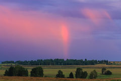 Summer rainbow landscape Royalty Free Stock Images