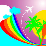 Summer Rainbow Vacation Stock Image