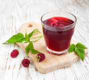 Summer Raspberry drink Stock Photos