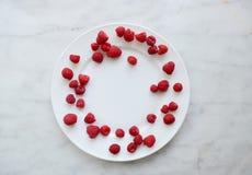 Summer raspberry. Berries breakfast Royalty Free Stock Image