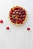 Summer raspberry tart with custard Stock Images