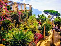 Summer in Ravello Italy stock image