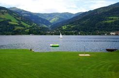 Summer recreation on the meadow around the Lake Zell Royalty Free Stock Images