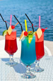Summer Red And Blue Fruit Cocktail. Stock Image
