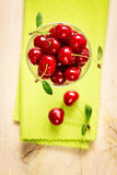 Summer red cherries Royalty Free Stock Images
