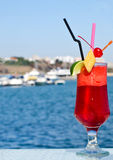 Summer red fruit cocktail. Royalty Free Stock Photography