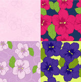 Summer. Red, pink and violet flowers stock illustration