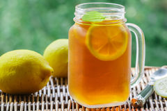 Summer refreshing drink. Citrus ice tea Stock Images