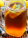 Summer refreshing drink. Citrus ice tea Royalty Free Stock Photo