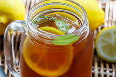 Summer refreshing drink. Citrus ice tea Royalty Free Stock Images