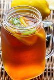 Summer refreshing drink. Citrus ice tea Stock Photo