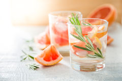 Summer refreshing drink and ingredients Royalty Free Stock Images