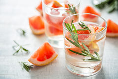 Summer refreshing drink and ingredients Stock Photos