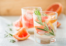 Summer refreshing drink and ingredients Royalty Free Stock Photography