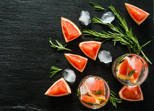 Summer refreshing drink and ingredients Royalty Free Stock Photos