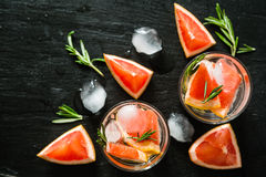 Summer refreshing drink and ingredients Stock Image