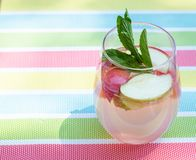 Summer refreshing infused drink beverage royalty free stock image