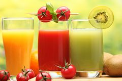 Summer refreshing juice Stock Image