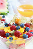 Summer refreshment - fruit salad Royalty Free Stock Images