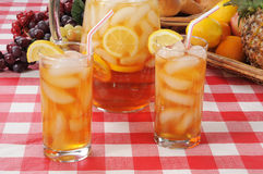 Summer refreshments, iced tea Stock Photos