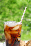 Summer refreshments served outdoors Royalty Free Stock Photos