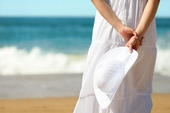 Summer relax on beach concept stock photography